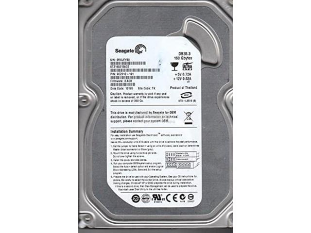 ST3160215ACE SEAGATE 160GB ATA 7.2K RPM 3.5IN INTERNAL HDD