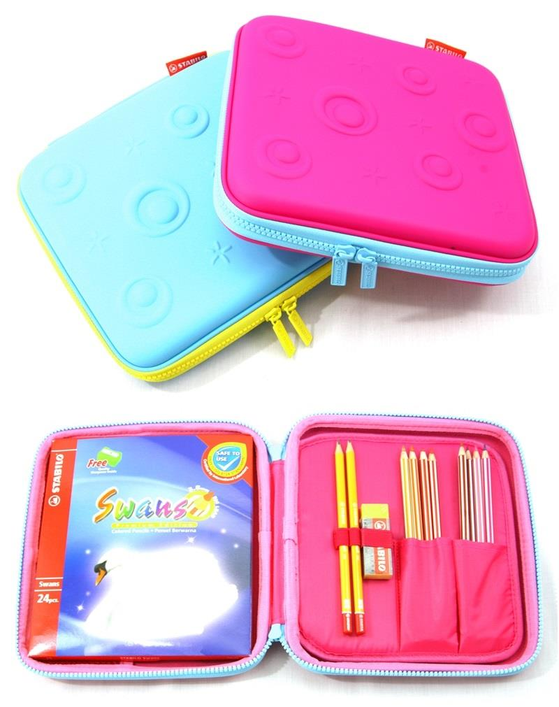 STABILO Stationery Pouch Colored Pencil 24's Pencil Eraser