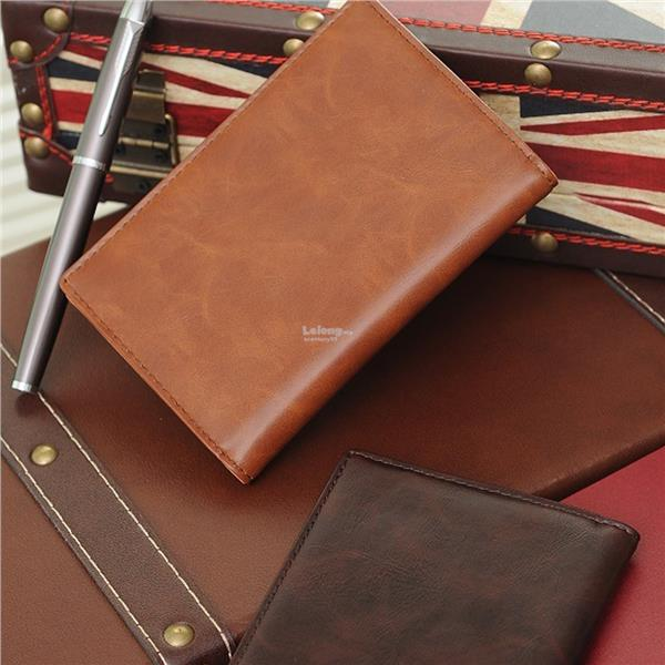 STABLE LZ PU Leather Travel Journey Passport Holder With Note Sleeve