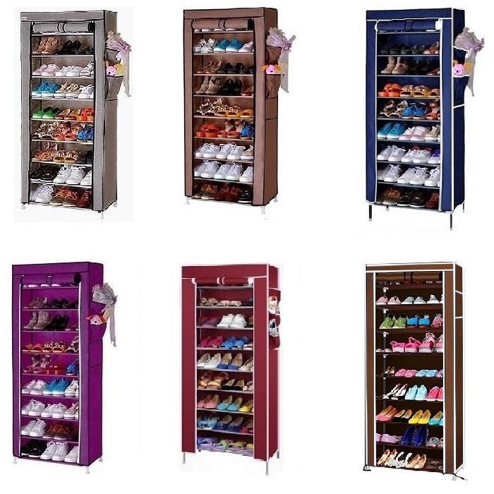 Stackable Shoe Cabinet 10 Tier 9 Column