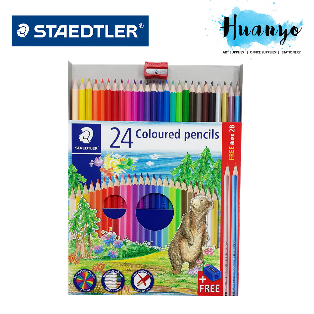 Staedtler Thailand Premium Luna Colour Pencil ( 12 / 24 Colours Long)