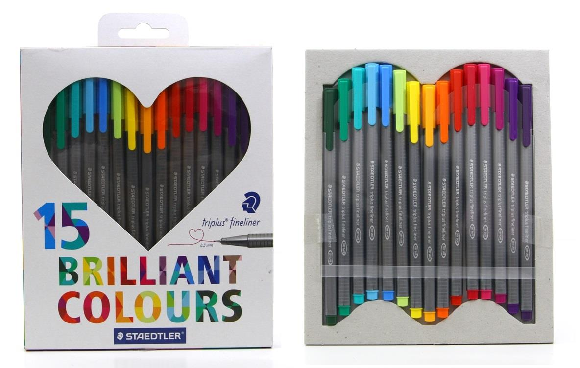 STAEDTLER triplus fineliner set of 15 Colours