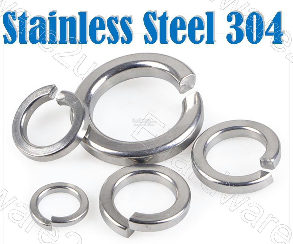 Stainless Steel 304 Lock Spring Washer 10Pcs (SW-SS)