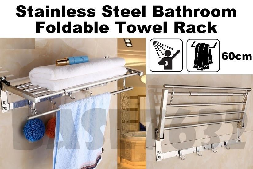 Stainless Steel Bathroom Towel Foldab End 992019 645 Pm