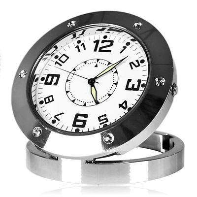 Stainless Steel Clock Camera With 4GB Memory Card (DVR-05B4GB).