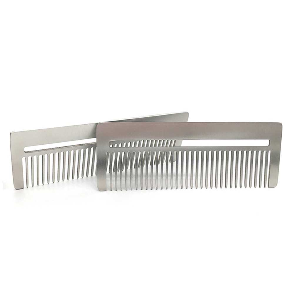 Stainless Steel Comb Metal Hair / Beard Comb Multifunctional Mini Comb  Anti-st