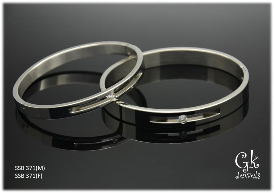 Stainless steel couple Bangle SSB 371