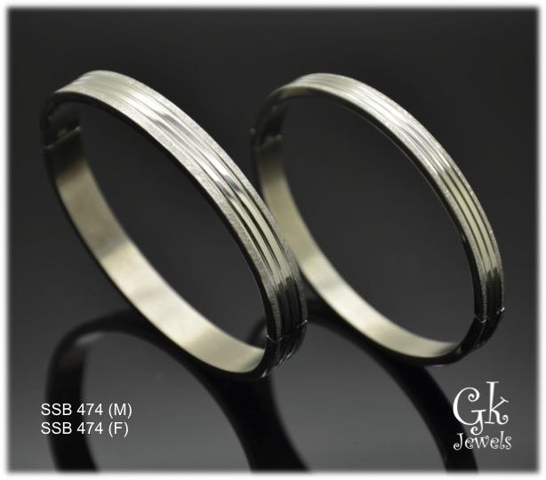 Stainless steel couple Bangle SSB 474 per pair