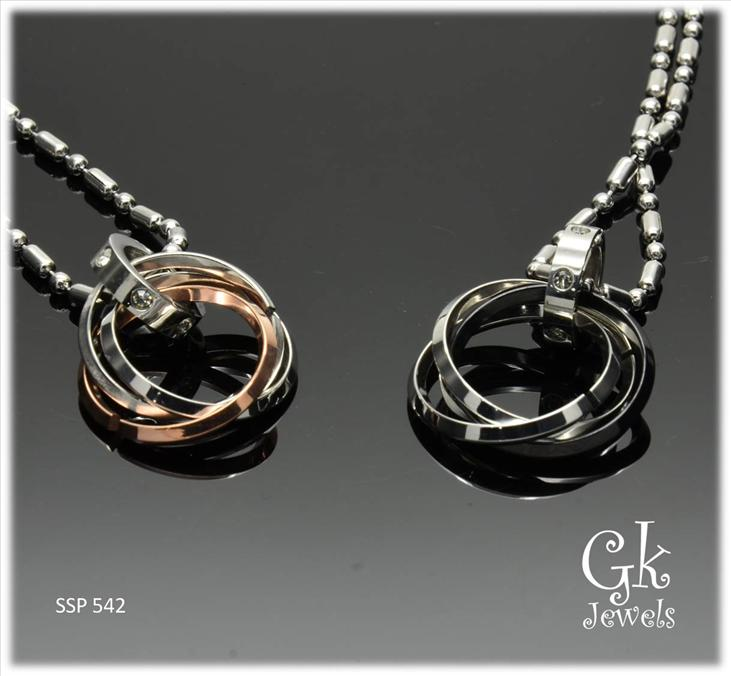 Stainless steel couple pendant SSP 542 ( include Chain)
