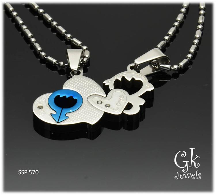 Stainless steel couple pendant SSP 570 ( include Chain)