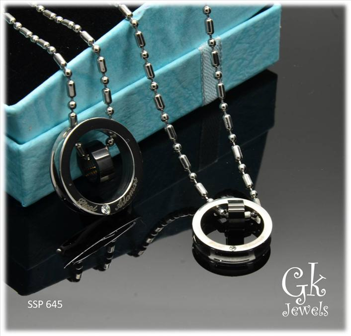 Stainless steel couple pendant SSP 645( include Chain)