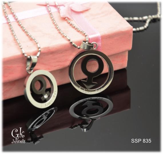 Stainless steel Couple Pendant SSP 835