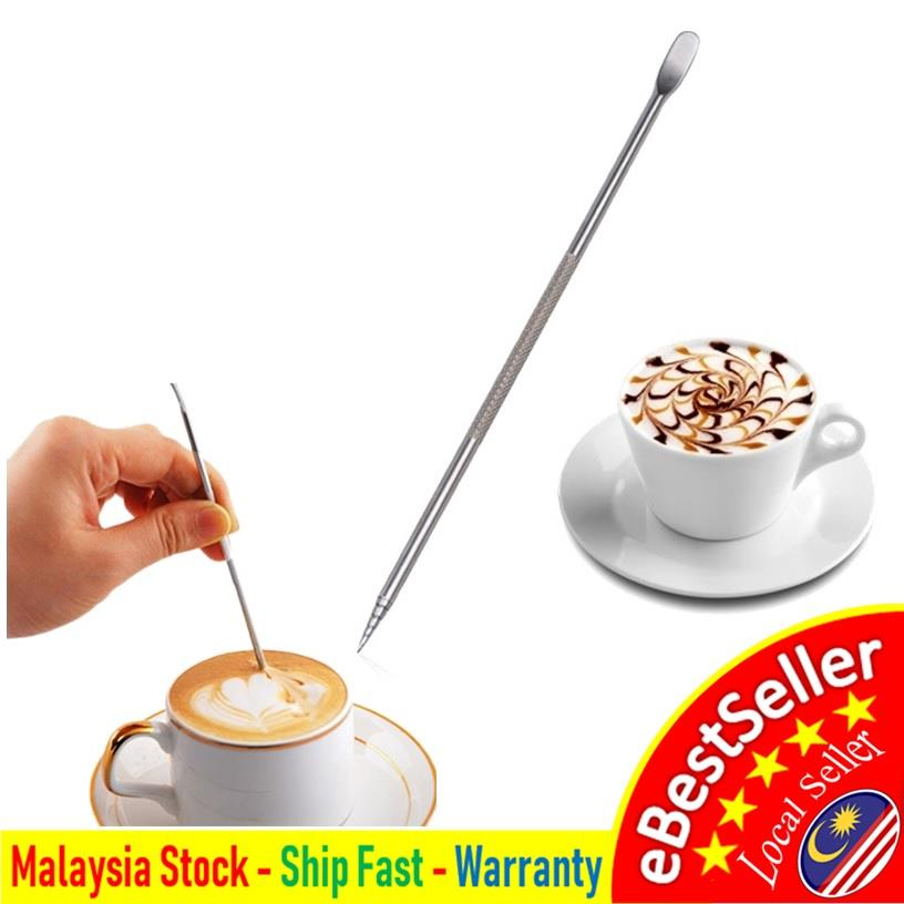 Stainless Steel Espresso Barista Cappuccino Coffee Latte Art Pen Tool