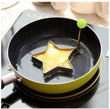Stainless Steel Fry Egg Ring with Handle (Star)