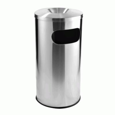 Stainless Steel Litter Bin C/w Ashtray Top RAB050A