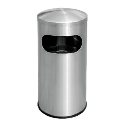 Stainless Steel Round Litter Bin C/w Dome Top RAB051D