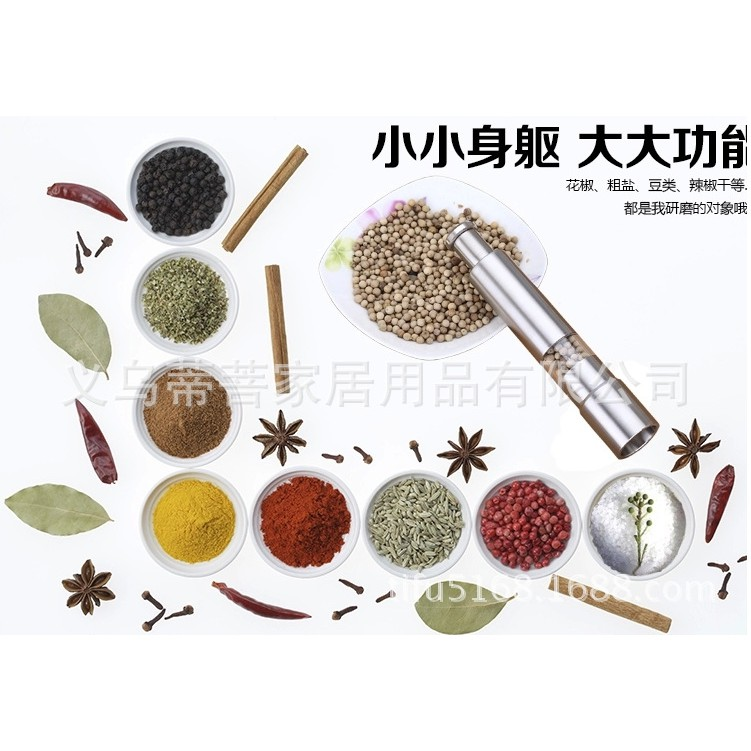 Stainless Steel Manual Pepper Powder Grinder