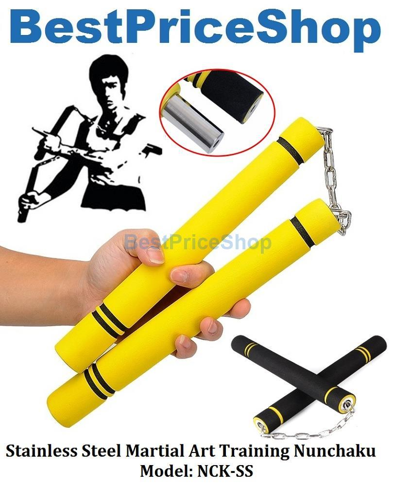 Stainless Steel Martial Art Training Nunchaku Karate Kung Fu Practice