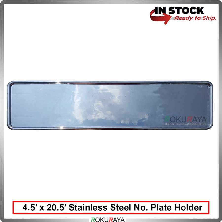Stainless Steel Number Plate Holder Licence Plate Frame (11cm x 53cm)