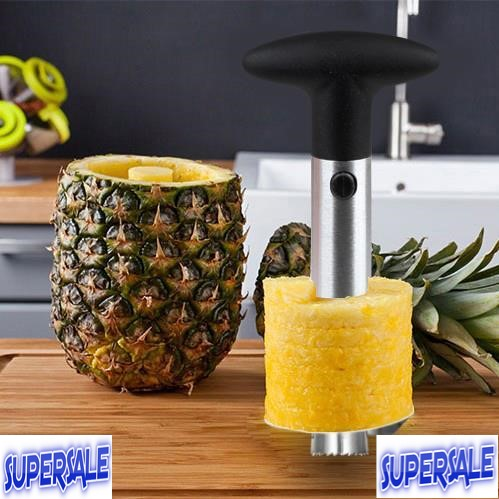 Stainless steel pineapple peeling device quick cut slicer