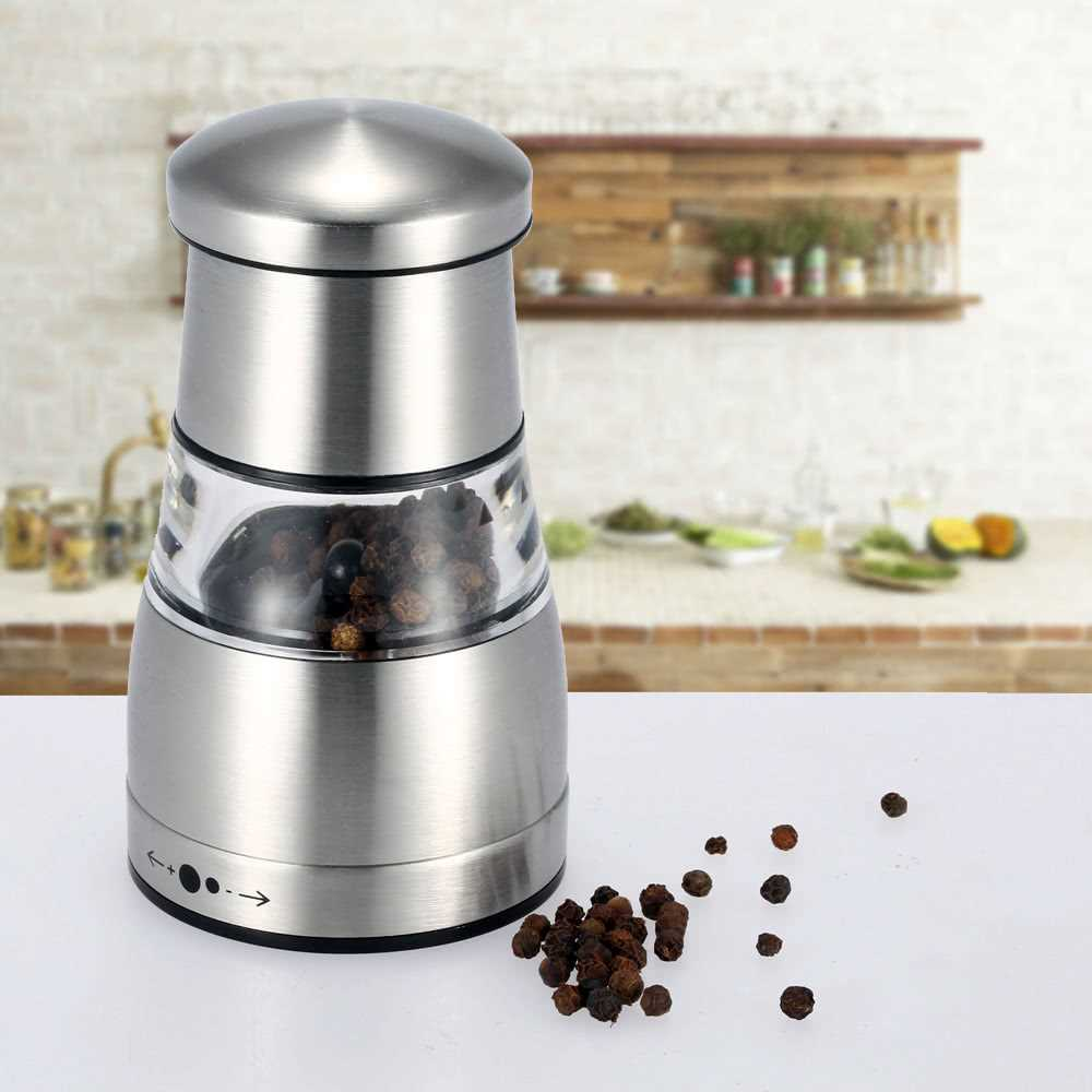 Stainless Steel Portable Manual Pepper Grinder Muller Mill Kitchen