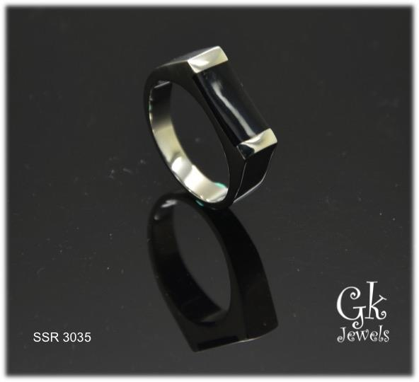 Stainless Steel Ring SSR 3035 (onyx)
