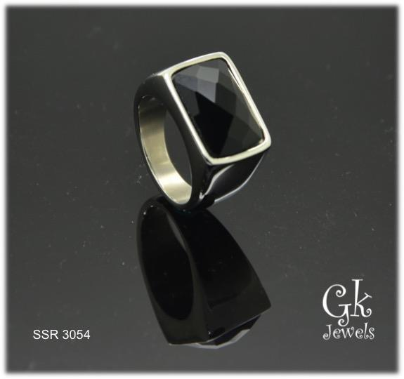 Stainless Steel Ring SSR 3054 (Onyx)