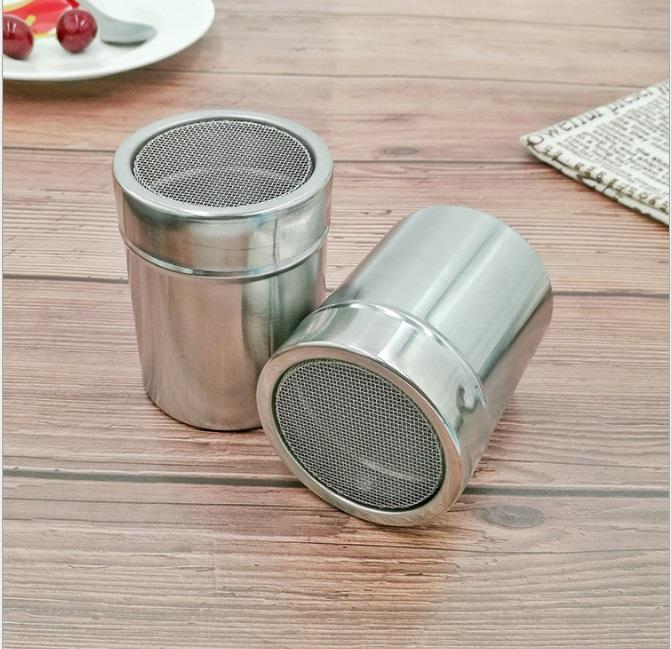 Stainless Steel Seasoning Pepper Cocoa Powder Bottle Cans