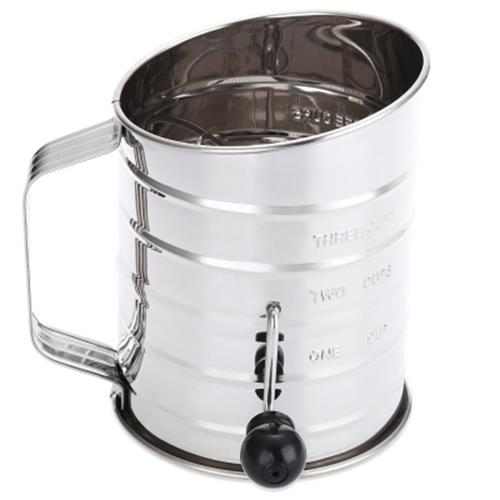 STAINLESS STEEL SIEVE CUP POWDER FLOUR MESH CAKE DECORATING PASTRY TOO