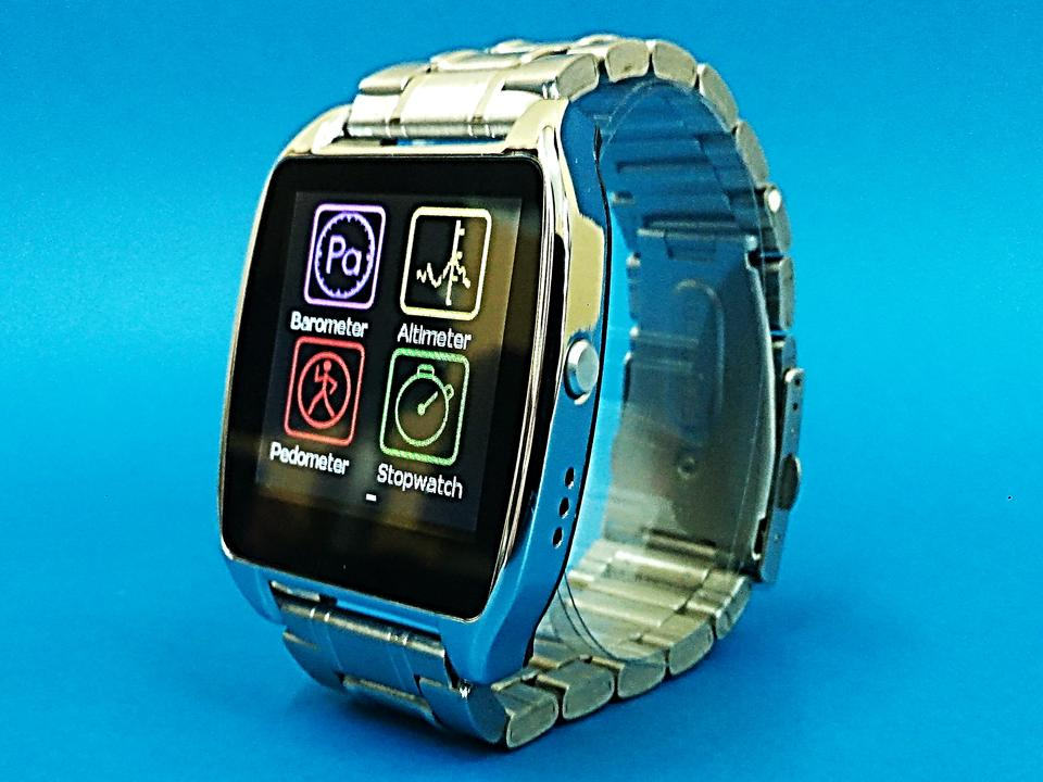 STAINLESS STEEL Smart Watch Phone Fully Compatible IOS Android