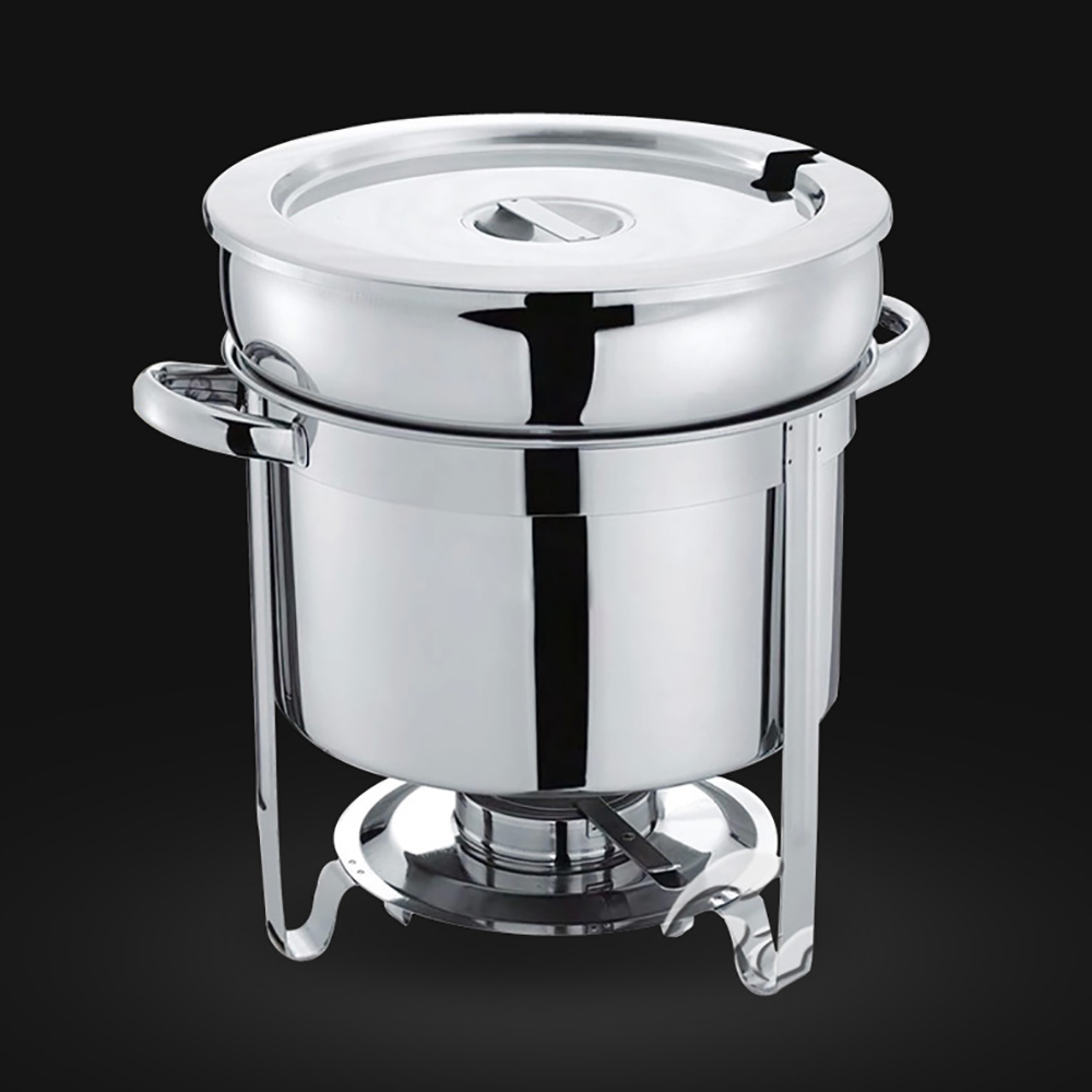Stainless steel soup tureen chafing dish buffet soup station warmer