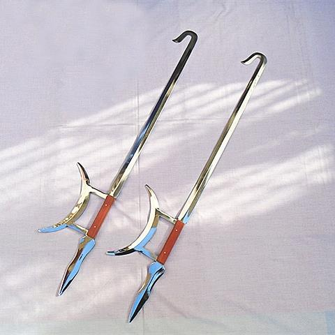 Stainless Steel Tiger Double Hook Martial Arts Show Chinese