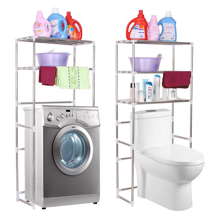 Stainless Steel Washing Machine Toilet Bathroom Shelf Storage Rack. U2039 U203a