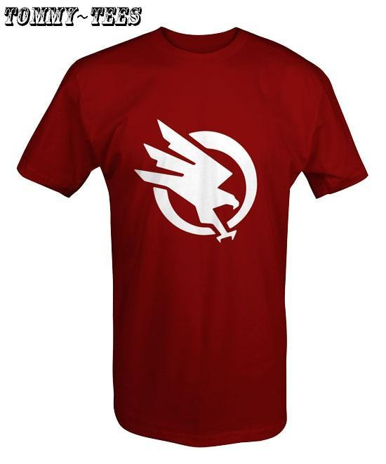 Stand hawk t shirt white red black end 4 1 2019 12 00 am for Black white red t shirt