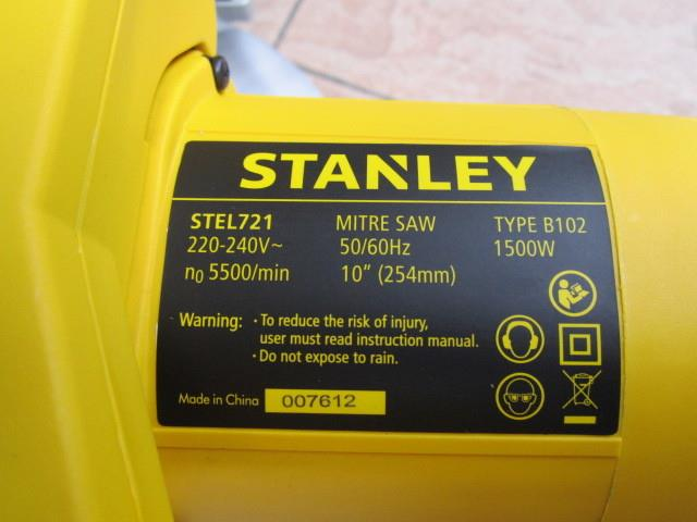 "Stanley 1500W 254mm (10"") Compound Mitre Saw STEL721"
