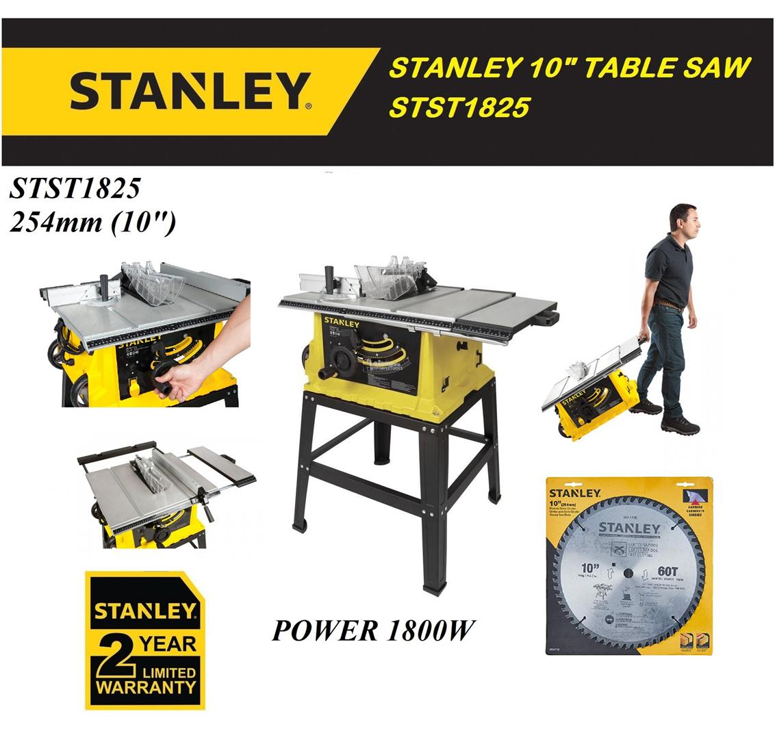 Stanley 1800W (254mm) 10' Table Saw with Stand