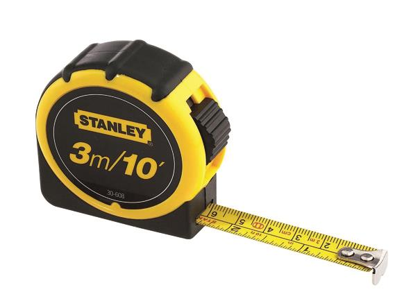 STANLEY 3M Rubbergrip Tape Rule