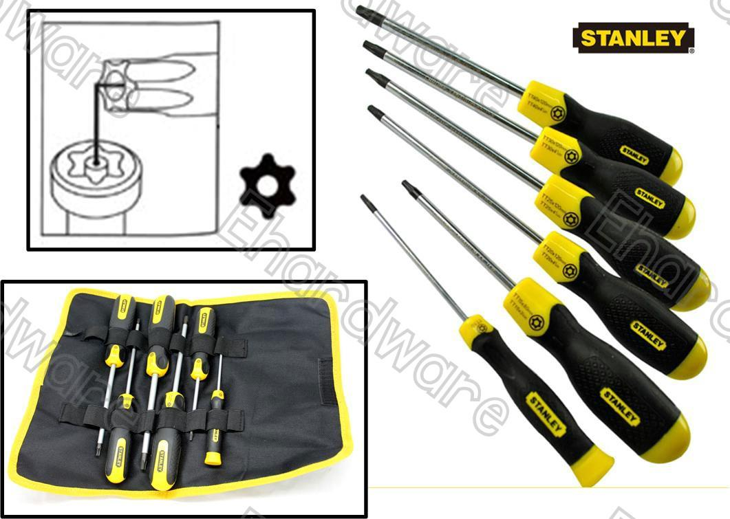 STANLEY 6PCS TORX SCREWDRIVER SET T10-T40 (65156)