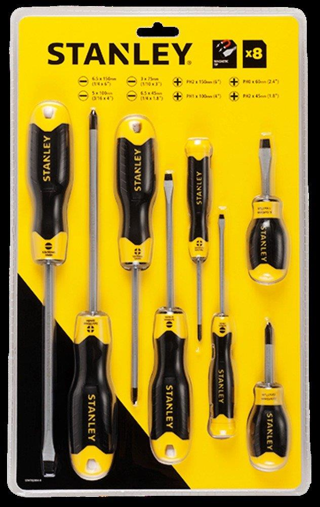 STANLEY 92-004 CUSHION GRIP 2 SCREWDRIVER 8PCS/SET