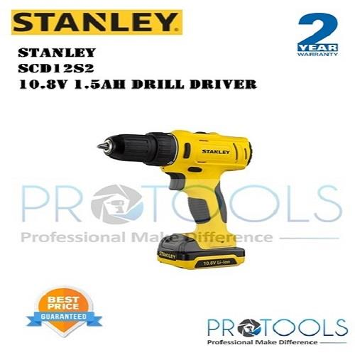 STANLEY SCD12S2 10.8V DRILL DRIVER - 2 years warranty