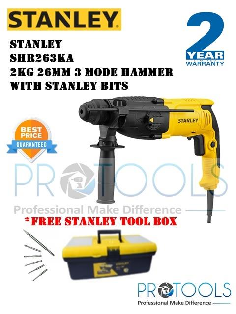 STANLEY SHR263KA  3MODE HAMMER WITH STANLEY BITS