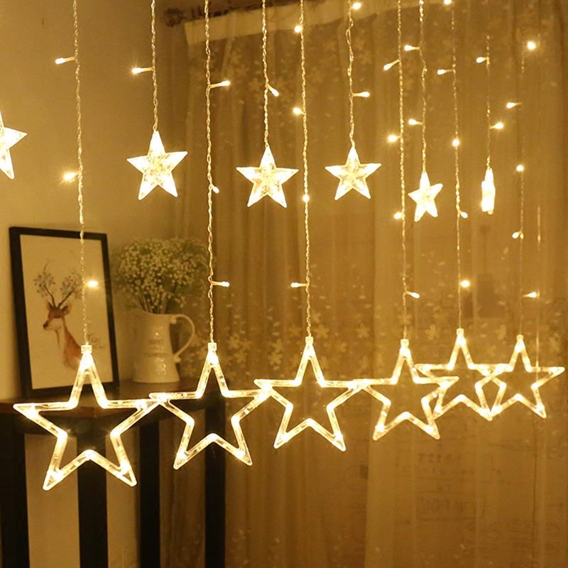 Star Light Curtain Home Shop Decor (End 12/14/2018 12:15 Pm)