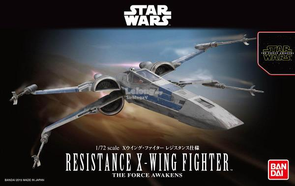Star Wars - 1/72 Resistance X-Wing Fighter (The Force Awakens)