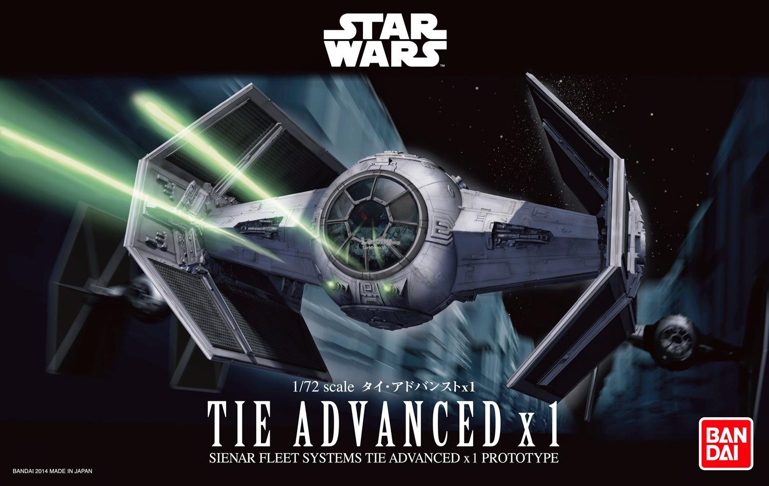 Star Wars - 1/72 Tie Advanced x 1