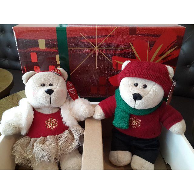 New! Starbucks® Bearista® 2014 Christmas couple bears