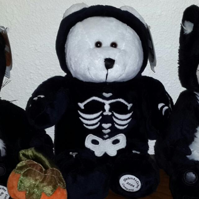 New! Starbucks® Bearista® 35th Ed. 2004 Halloween Skeleton suit bear