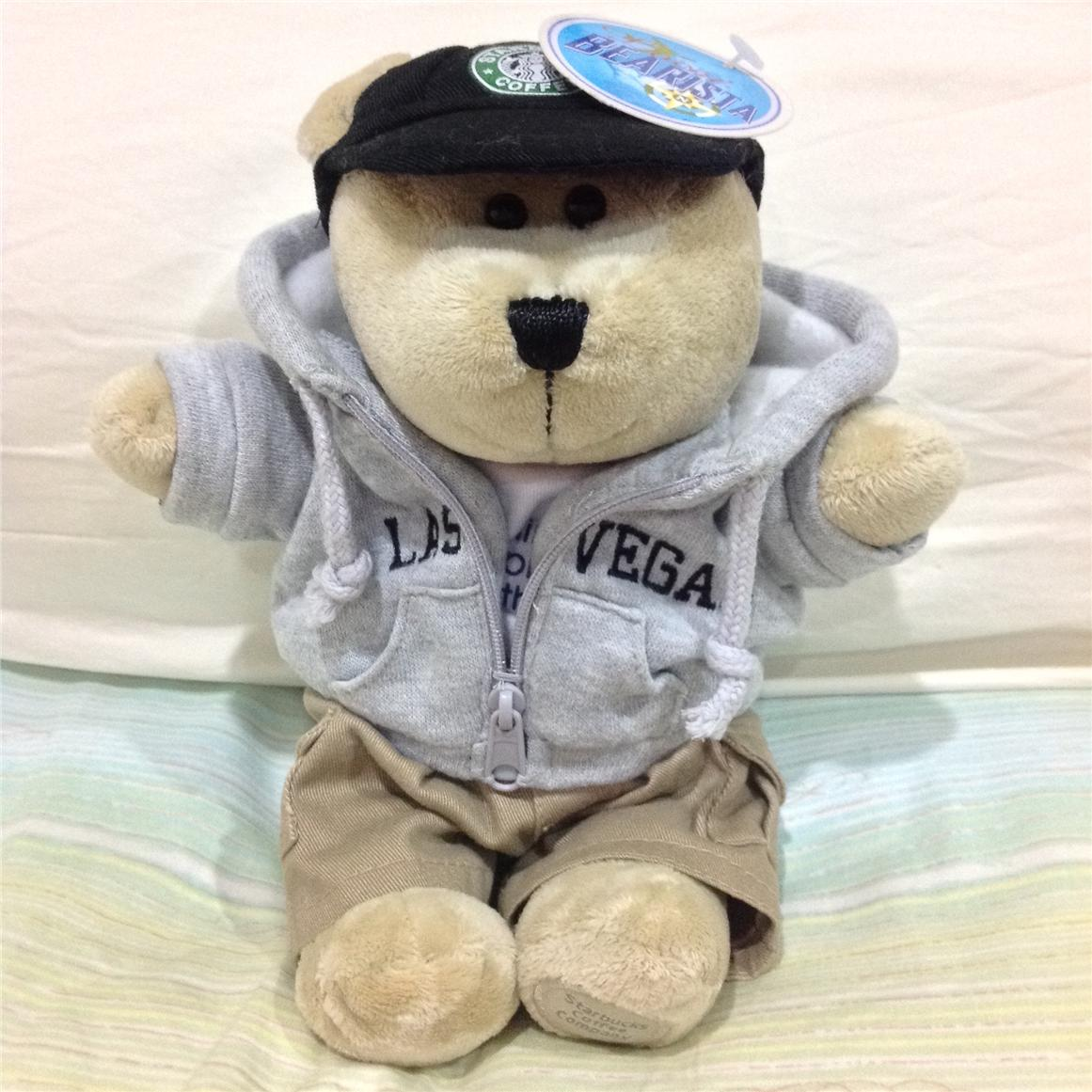New! Starbucks® Bearista® Hoodie Las Vegas Special Edition bear