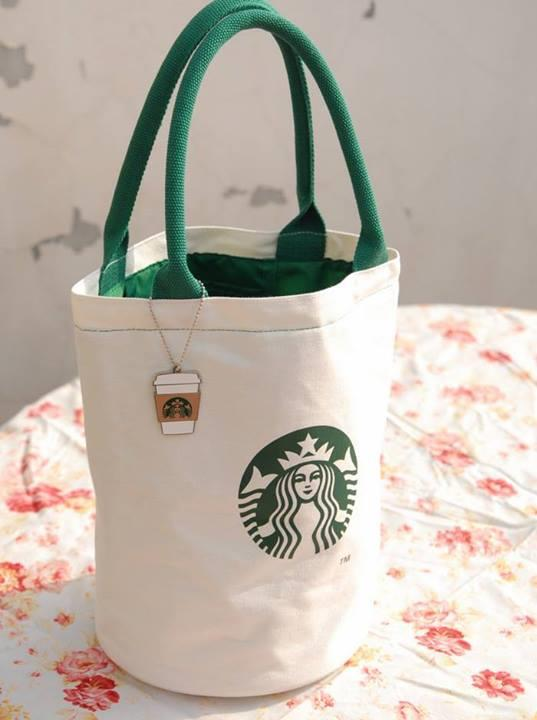 Starbucks An Canvas Tote Bag With Charms Limited Authentic