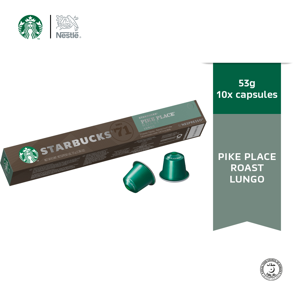 Starbucks® Pike Place® by Nespresso® Coffee Capsules, 10 capsules