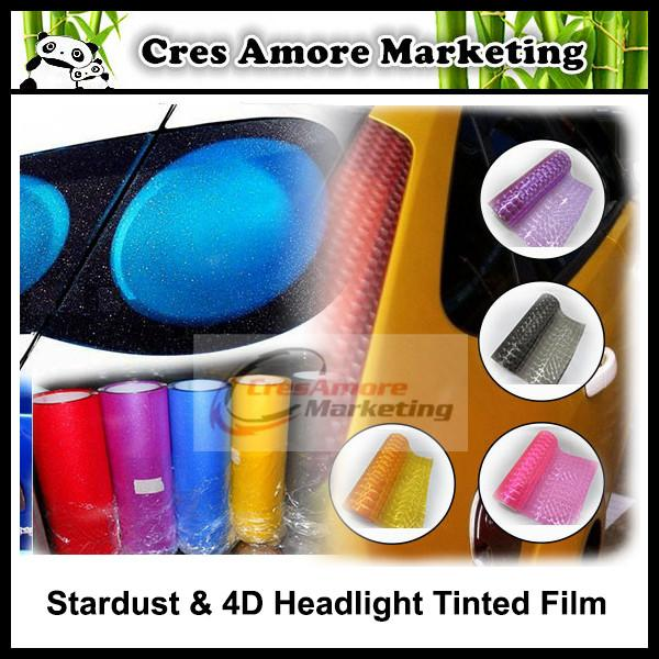 Stardust/4D cateye car tinted protective film 12 color option s